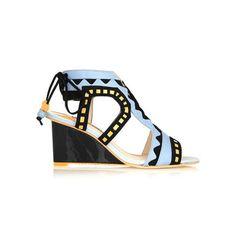 #shoes #aztec #summer #wedge #heels