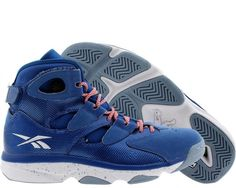 buy online 22681 199d3 Reebok Shaq Attaq 4 IV White blue Men Basketball Shoes Sz 9 for sale online    eBay