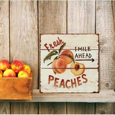 Barnyard Designs Fresh Peaches Retro Vintage Tin Bar Sign Country Home Decor 11 x 11 *** More info could be found at the image url. (This is an affiliate link) Retro Home Decor, Diy Home Decor, Decorating Your Home, Interior Decorating, Budget Decorating, Diy Interior, Interior Design, Decorating Games, Interior Paint