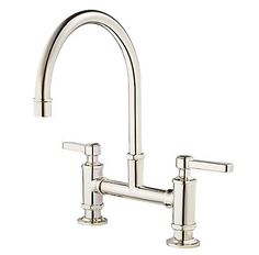 Polished Nickel Port Haven Bridge Kitchen Faucet - GT31-TDD - 1