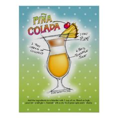 Check out all of the amazing designs that The MARTINI DIVA BOUTIQUE has created for your Zazzle products. Make one-of-a-kind gifts with these designs! Mai Tai Cocktail Recipes, Pina Colada Rum, Colorful Drawings, Free Paper, Office Gifts, Custom Posters, Poster Prints, Art Posters, Custom Stickers