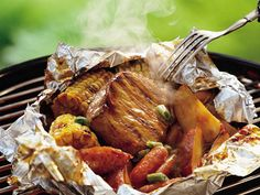 10 easy camping Dinners (pictured: Grilled Honey-Cumin BBQ Pork)