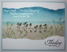 wetlands, sandpipers, ocean, shore, sponging, masking, masculine, stampin' up, cards ~www.TooCoolStamping.com