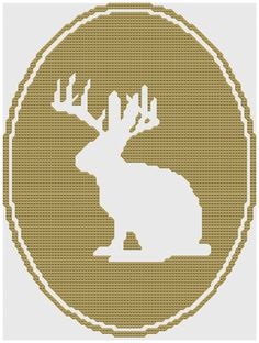 jackalope cross stitch pattern pdf by pickleladyfarm on Etsy, $5.00