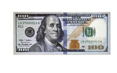 "One Hundred 100 Dollar Bill Rug Runner 22"" x 53"" Ben Franklin Carpet In/Out Door"