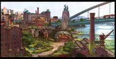 Zootopia Concept Art- By Matthias Lechner - Walt Disney Zootopia Concept Art, Zootopia Art, Disney Concept Art, Frank Frazetta, Samurai Jack, Wall E, Animation Background, Art Background, Art Director