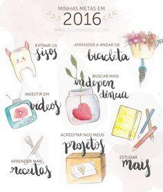 juliana rabelo | illustration: Minhas metas (ilustradas) para 2016