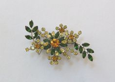 Australian Brooch  Large Green and Yellow  Gay by DustyDiggerLise