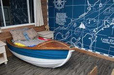 Beautiful bed with boat design