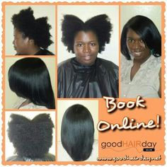 Natural hair, flat iron press, demi color, layered cut  Relaxed Styles, Natural Styles, Keratin Treatments, Custom Color, Precision Cuts, Book online!  www.goodhairday.net