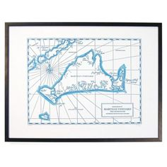 Check out this item at One Kings Lane! Martha's Vineyard Map Print