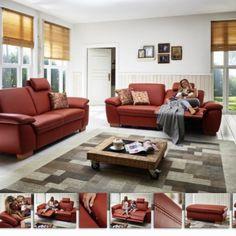 Krásná pohodlná sedací souprava s mnoha komfortními a užitečnými funkcemi. Dostupná v látkovém i koženém provedení.  Cbrovská variabilita - konfigurovatelná prakticky do jakýchkoli sestav a velikostí. Vysokojakostní studená pěna v sedácích zajišťuje maximální komfort. Couch, Furniture, Home Decor, Settee, Decoration Home, Sofa, Room Decor, Home Furnishings, Sofas