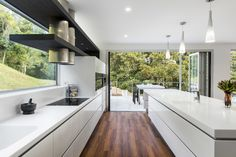 This kitchen was designed specifically to take advantage of the stunning surrounding environment