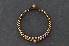 Lunar Beaded Brass Bracelet by XtraVirgin on Etsy, $8.00