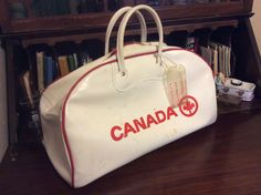 vintage luggage ...  Classic AIR CANADA by LandLockedCottage