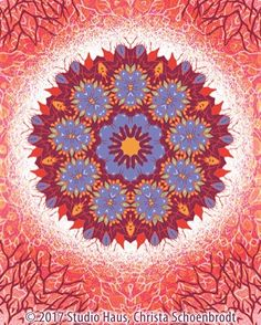 Here's my latest flower mandala that's featured on this month's blog post of my web site. The weather is so confusing where I live so my color palette is a bit of spring fall winter and a hint of summer. After a spring-like day that began with a tornado warning I think tomorrow we expect winter again.  #flowermandala #whatseasonisitanyway #surfacedesign #surfacedesigner #artlicensing #artistsoninstagram #artistsofinstagram #illustratorsoninstagram #illustratorsofinstagram