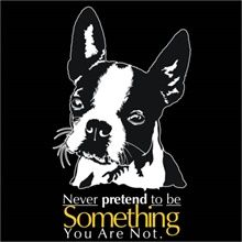 Never Pretend To Be Something You Are Not - Boston Terrier Silhuoette Sweatshirt
