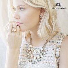 Shop the Morningtide capsule collection on my c+i boutique!  This 3 Layer Retro Glam Necklace is a Dream!!  www.chloeandisabel.com/boutique/brikay