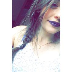 purple lipstick ☔️