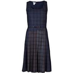 OSCAR DE LA RENTA Plaid dress ($1,980) ❤ liked on Polyvore