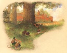 Christopher Denise, Redwall Abbey—pages 6-7 from The Great Redwall Feast $900.00