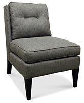 "Sloane Fabric Accent Chair, Armless 26""W x 34""D x 36.5""H"