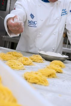 another reason to try they make their own fresh pasta! Ocean Cruise, Fresh Pasta, Retirement, Travel Tips, Beverages, River, Happy, Food, Kitchens