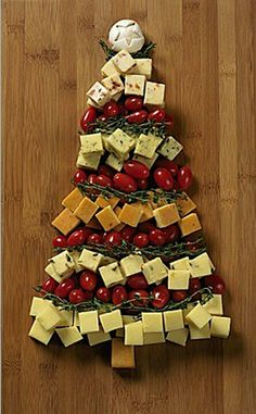 Christmas tree cheese platter!