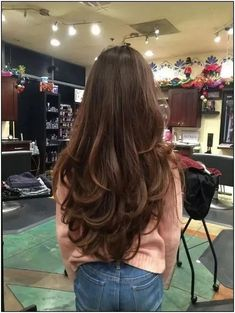 115 fabulous womens long hair hairstyles ideas for your easy going summer Long Layered Hair Straight easy Fabulous Hair hairstyles ideas long summer Womens Haircuts For Long Hair With Layers, Haircuts Straight Hair, Long Face Hairstyles, Long Layered Haircuts, Long Hair Cuts, Layered Long Hair, Bride Hairstyles, Hairstyle Ideas, Bob Hairstyles