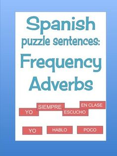 Help students understand word order with this series of puzzle sentences! Each student or pair gets its own set of pieces to create original sentences using the words provided. By moving the pieces around, they can see the grammar pattern and learn where different adverbs go in a sentence. This is a fun and interactive way of teaching and reinforcing adverbs of frequency.