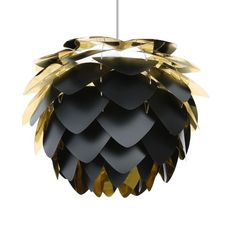 Hanglamp Silvia - zwart/goudkleurig