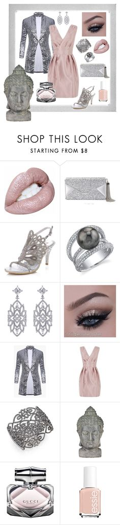 """""""Pink & Grey"""" by tropicalhaven ❤ liked on Polyvore featuring Polaroid, BCBGMAXAZRIA, CARAT*, Coast, Adriana Orsini, Universal Lighting and Decor, Gucci and Essie"""