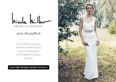 CLICK HERE for details on a $200 Nicole Miller Bridal Accessories #giveaway on NewlyWish!
