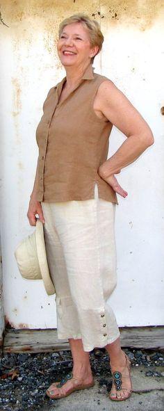 Color Me Cotton Sleeveless Shirt - Rattan