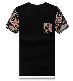 Rrive Men Summer Button Up Regular Fit Short Sleeve Floral Print Shirt Shirt