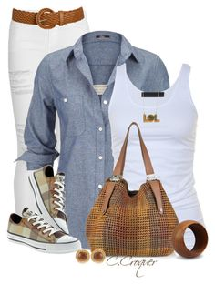 """My Converse"" by ccroquer ❤ liked on Polyvore featuring Frame Denim, Silver Jeans Co., Wet Seal, Converse, Tusnelda Bloch, Jimmy Choo, Mint, NOVICA and Chanel"