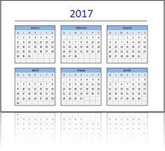 Descarga el Calendario 2017 en Excel listo para imprimir