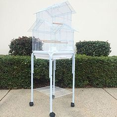 House Top Bird Cage with Stand for Canary Finch Lovebird Cockatiel Parakeet (White) Review https://birdhousesforoutside.info/house-top-bird-cage-with-stand-for-canary-finch-lovebird-cockatiel-parakeet-white-review/