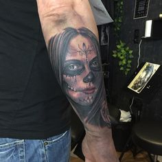Day of the dead tattoo by Antonio at Holy Grail Tattoo Studio