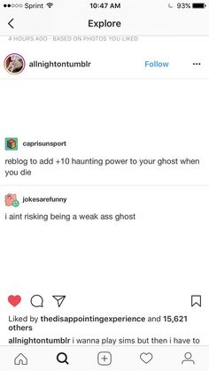 I'm not risking being your friendly neighbourhood ghost, imma haunt some people<<< i aint lookin to be casper i'm out here to be a legendary poltergeist<<< I am here to have ledgendary power and humor the levels of Danny Phantom Dankest Memes, Funny Memes, Hilarious, Jokes, Tumblr Stuff, Tumblr Posts, Just In Case, Just For You, Text Posts