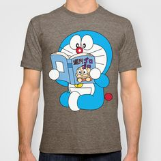 Doraemon Reading Comic Book T-shirt by Timeless-Id
