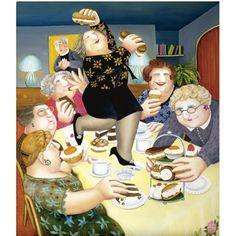 The Vicar's Tea Party, Beryl Cook -English Artist
