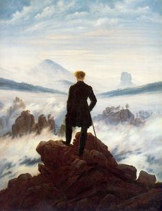 Paseante sobre un Mar de Nubes. Friedrich. Romanticismo. S. XIX.