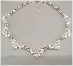 Swarovski Rhinestone Pearl and Crystal Wedding by BridalDiamantes, $135.00