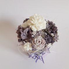 Purple-white soap bouquet with lavender essential oil Lavender, Essential Oils, Floral Wreath, Bouquet, Soap, Wreaths, Purple, Home Decor, Homemade Home Decor
