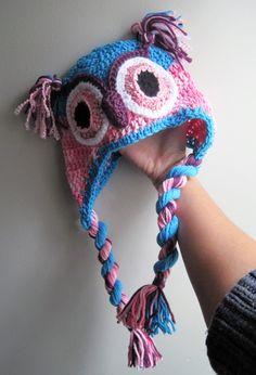 Cotton owl hat Crochet Owl Hat, Cotton