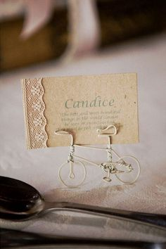 Vintage Romance Wedding at Nooitgedacht Estate {Real Wedding} | Confetti Daydreams - Custom-made wire bicycles served name card holders ♥ #White #Green #Wedding ♥  ♥  ♥ LIKE US ON FB: www.facebook.com/confettidaydreams  ♥  ♥  ♥