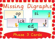 Phase 3 Digraphs Practice Activity available on EpicPhonics.com