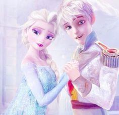 Elsa and Jack Frost yessssssss!!!!