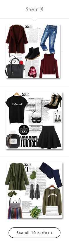 """SheIn X"" by belmina-v ❤ liked on Polyvore featuring Tommy Hilfiger, WithChic, H&M, Bobbi Brown Cosmetics, Parlane, Burberry, Deborah Lippmann, Balmain, Madewell and Natural Life"